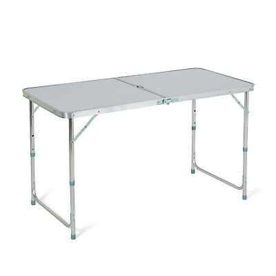 4ft Folding Camping Table Aluminium Picnic Portable Adjustable Party Bbq Outdoor • 22.95£