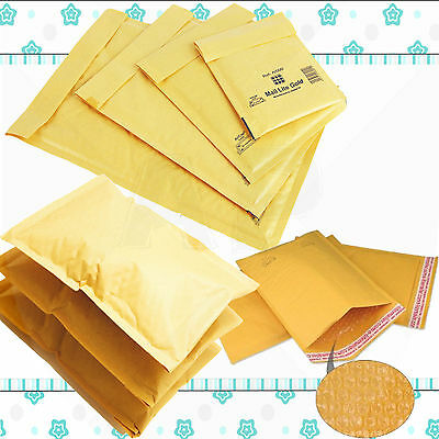£23.05 • Buy Padded Bubble Wrap Bags / Envelopes 'all Sizes' All Courier - Gold Cheap