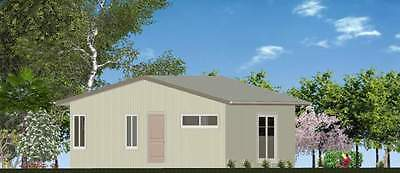 AU24800 • Buy 1 Bedroom DIY Granny Flat Kit - The Sunset 50m2 On Gal Chassis - CGI Wall Sheets