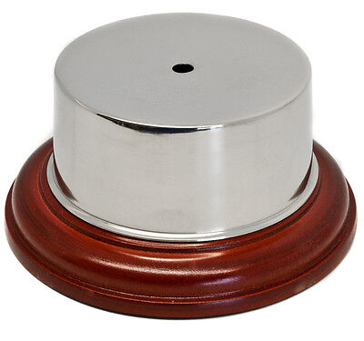 £24.95 • Buy Replacement Nickel Plated Plinth Band & Wooden Base For Claret Jugs Or Cups