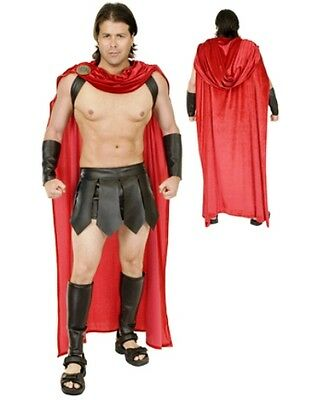 £56.69 • Buy Adult Mens Spartan Warrior 300 Roman Greek Gladiator Costume With Cape Guard Red
