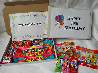 45 Piece Retro Sweets Gift Box 10th To 19th Birthday Free Personalised Message • 6.25£