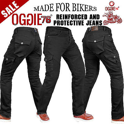 Men's Motorbike Motorcycle Jeans Reinforced Denim With Protective Lining Trouser • 49.99£