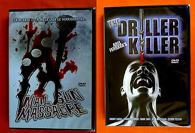 NAIL GUN MASSACRE / THE DRILLER KILLER - 2 Dvd Slasher -English Español - Precin • 12.28£
