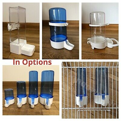 £6.95 • Buy Bird Cage Water Drinker & Feeder Bottles Anti Algae For Finches Canary Budgie