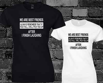 We Are Best Friends Funny Ladies T Shirt Cool Yolo Swag Hipster Top • 6.99£