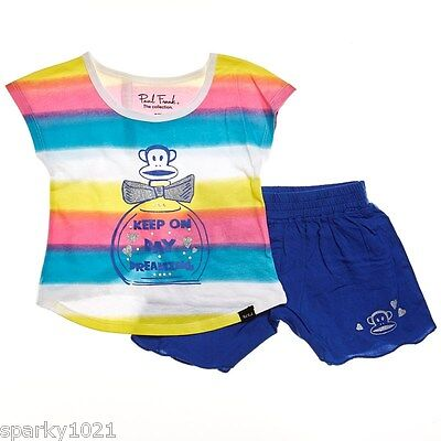 £7.21 • Buy Paul Frank  2 Piece Day Dreaming Shorts Set Girl's Size 24 Months New