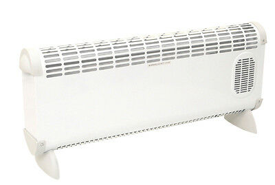 Prem-I-Air White 2.5kW Convector Heat Heater -Turbo Fan / Adjustable Thermostat  • 34.99£