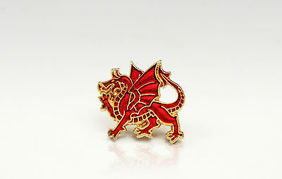 Wales Welsh Dragon - Rugby Football And Sport Supporters Pin Badge • 1.25£