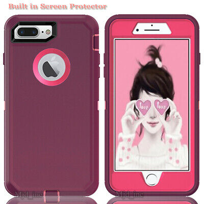 AU15.66 • Buy Iphone 8 Plus / Iphone 7 Plus Defender Case With Screen Protector Fits Otterbox
