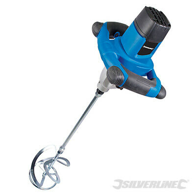 Heavy Duty Silverline 1220w Cement Plaster Mortar Paint Mixer Mixing Paddle 240v • 89.99£