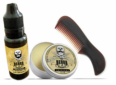 The Beard & The Wonderful, Moustache & Beard Kit - Beard Oil, Wax, & Comb Set • 8.98£