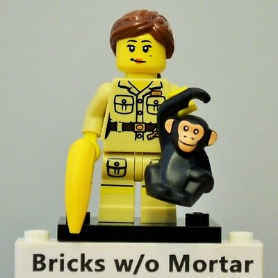 $ CDN6.64 • Buy New Genuine LEGO Zookeeper Minifig With Chimpanzee And Banana Series 5 8805