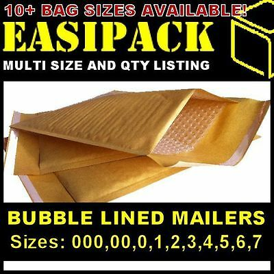 £35.99 • Buy Bubble Lined Envelopes Padded Mailers Mailing Bags *all Sizes* - Gold