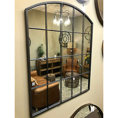 £125 • Buy Rockford Large Vintage Metal Arched Window Overmantle Wall Mirror 36x30  91x76cm