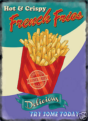 $15.19 • Buy RETRO METAL PLAQUE/FUNNY :Hot & Crispy FRENCH FRIES Sign