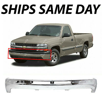 $200.42 • Buy NEW Chrome - Steel Bumper Impact Bar Fascia For 1999-2002 Chevy Silverado Pickup