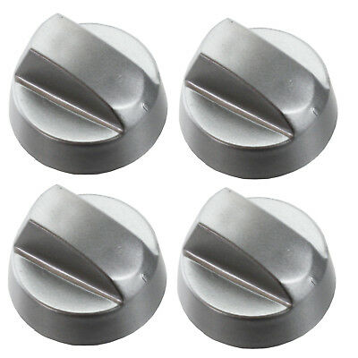 NEW WORLD Chrome Oven Knob Silver Gas Hob Cooker Switch Knobs + Adaptors • 9.29£