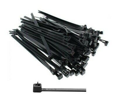 Black Reuseable, Releaseable Cable Ties. Strong. Cable. Tidy Wrap. Nylon. Straps • 3.94£