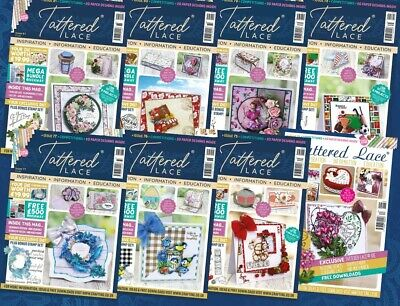BRAND NEW Tattered Lace Magazines - ALL ISSUES 1 - 87 With FREE DIES & FREE P&P! • 11.95£