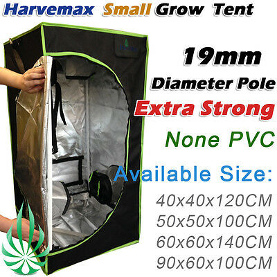 AU73 • Buy Harvemax Hydroponics Premium Small Mylar Metal Corner Propagation Grow Tent 600D