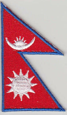 Nepal Country Flag Embroidered Patch T4 • 2.60£
