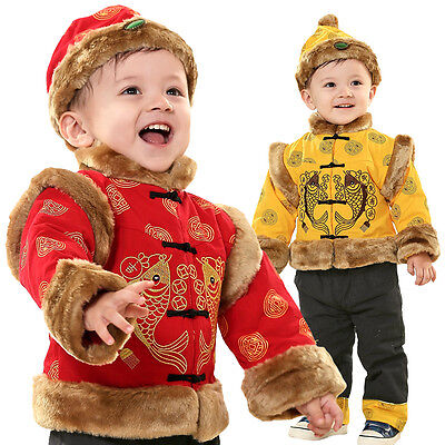 £24.99 • Buy Chinese New Year Tradition Costume Boy 3 PC Outfit Set Fancy Dress Size1-5 Years