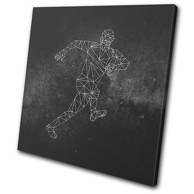 £19.99 • Buy Geometric Asbtract Rugby Sports SINGLE CANVAS WALL ART Picture Print