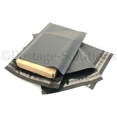 50 MIXED MAILING BAGS GREY PARCEL PACKAGING 12 X 16 And 10 X 14 Quick Delivery • 4.99£