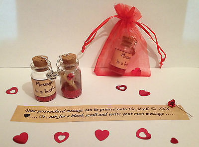 Personalised 'I Love You' Message In A Bottle. Anniversary Romantic Gift /card • 3.50£