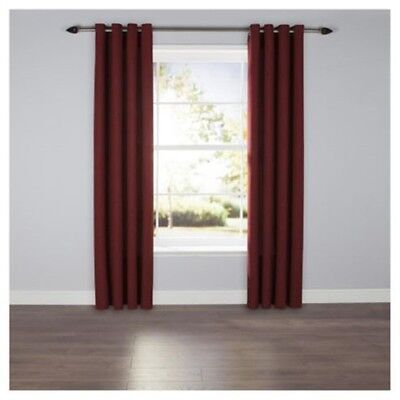 £26.99 • Buy Textured Plain Red Lined Eyelet Curtains 64 X 72 Cm Lounge Bedroom Dining