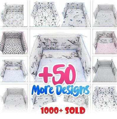 £22.99 • Buy 3 Or 5 PC NURSER BABY SET -COT - COT BED-inc BUMPER+COVERS+MORE- BABY GIRL -BOY