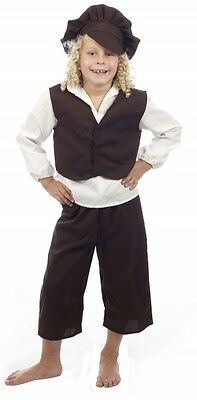 £9.99 • Buy Childrens Boys Victorian Outfit Fancy Dress Book Day Costume Age 4-14 Yrs