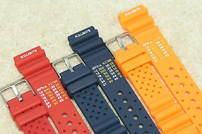 Rubber Divers ND Limits Polyurethane Watch Strap Fits Seiko Citizen 18-24mm Tool • 8.99£