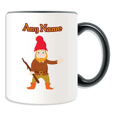 £8.96 • Buy Personalised Gift Gnome Mug Money Box Cup Fairy Tale Name Message Hobbit Dwarf