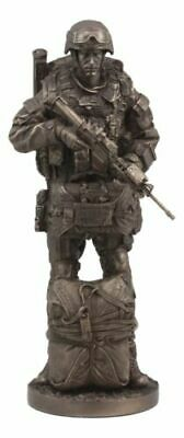 $75.99 • Buy Large Military War Parachutist Soldier Paratrooper Carrying Rifle Statue 12.75 H