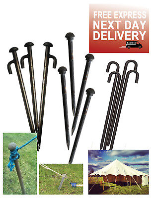£23.80 • Buy Heavy Duty Ground Pegs Peg For Gazebo Marquee Tent Bouncy Castle Stakes Camping