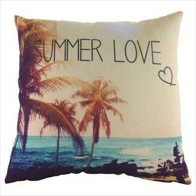 £12.99 • Buy Summer Love Natural Cushion Complete Cover + Filling Sofa Decor X 2 New