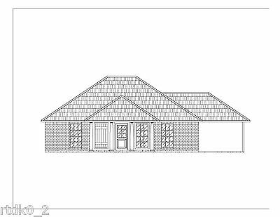 CAD DWG, And PDF Files For Custom Home House Plan 1,195 SF Blueprint Plans • 35.77£
