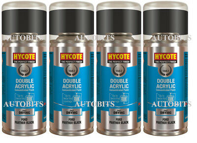 4x Hycote Ford Panther Black D/G/2851CM-1 Spray Paint  • 24.99£
