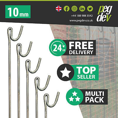 £78.23 • Buy 30 X METAL FENCING PINS 1300 X 10mm - Barrier Fence Stakes Events Temporary