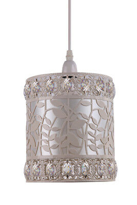 £23.99 • Buy Kliving Roxanne Cream Metal Acrylic Beads Non Electric Ceiling Light Shade