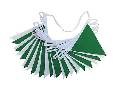 £4.50 • Buy Green And White Fabric Bunting St Patrick's Day Weddings Christenings Parties