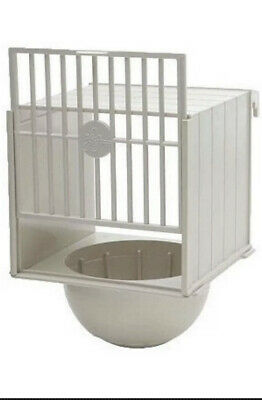 £9.95 • Buy 2 X PLASTIC BREEDING NEST PAN BOX CANARY FINCH BRITISH Hooks On Cage Front