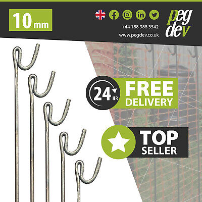 £38.33 • Buy METAL FENCING PINS 1300mm X 10mm - Barrier Fence Stakes Event Road Line Pins