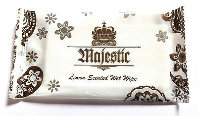 MAJEST Fresh Wet Hand Wipes Towels Hot Cold Individually Wrapped Restaurant Home • 7.45£