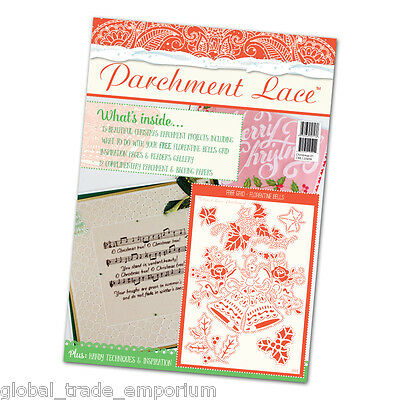 Tattered Lace PARCHMENT LACE MAGAZINE - Christmas 2016 + Florentine Bells Grid • 9.95£