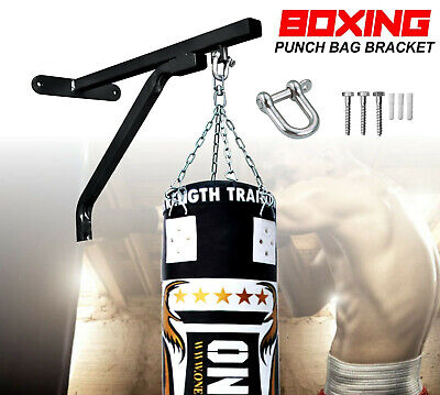 Auth Heavy Duty Punch Bag Wall Bracket Steel Mount Hanging Stand Boxing MMA Onex • 18.99£