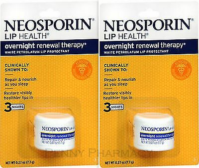 Neosporin Lip Health Overnight Renewal Therapy 0.27oz ( 2 Pack ) PHARMACY FRESH! • 9.75£