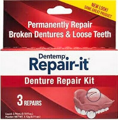 $8.54 • Buy Dentemp DOC REPAIR-It Denture Repair Kit - 3 Repairs/Kit NEW LOOK!